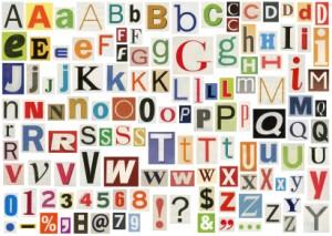 Alphabet representing short domain names