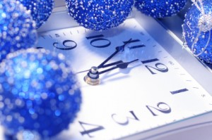 New year clock representing new domain name