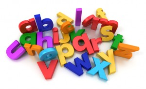 Alphabet representing domain name jargon
