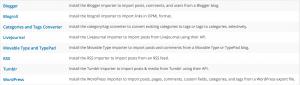 Wordpress Import Option Table