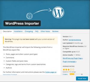 WordPress blog Importer Tool