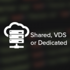 Hosting; Shared, VDS, Dedicated.